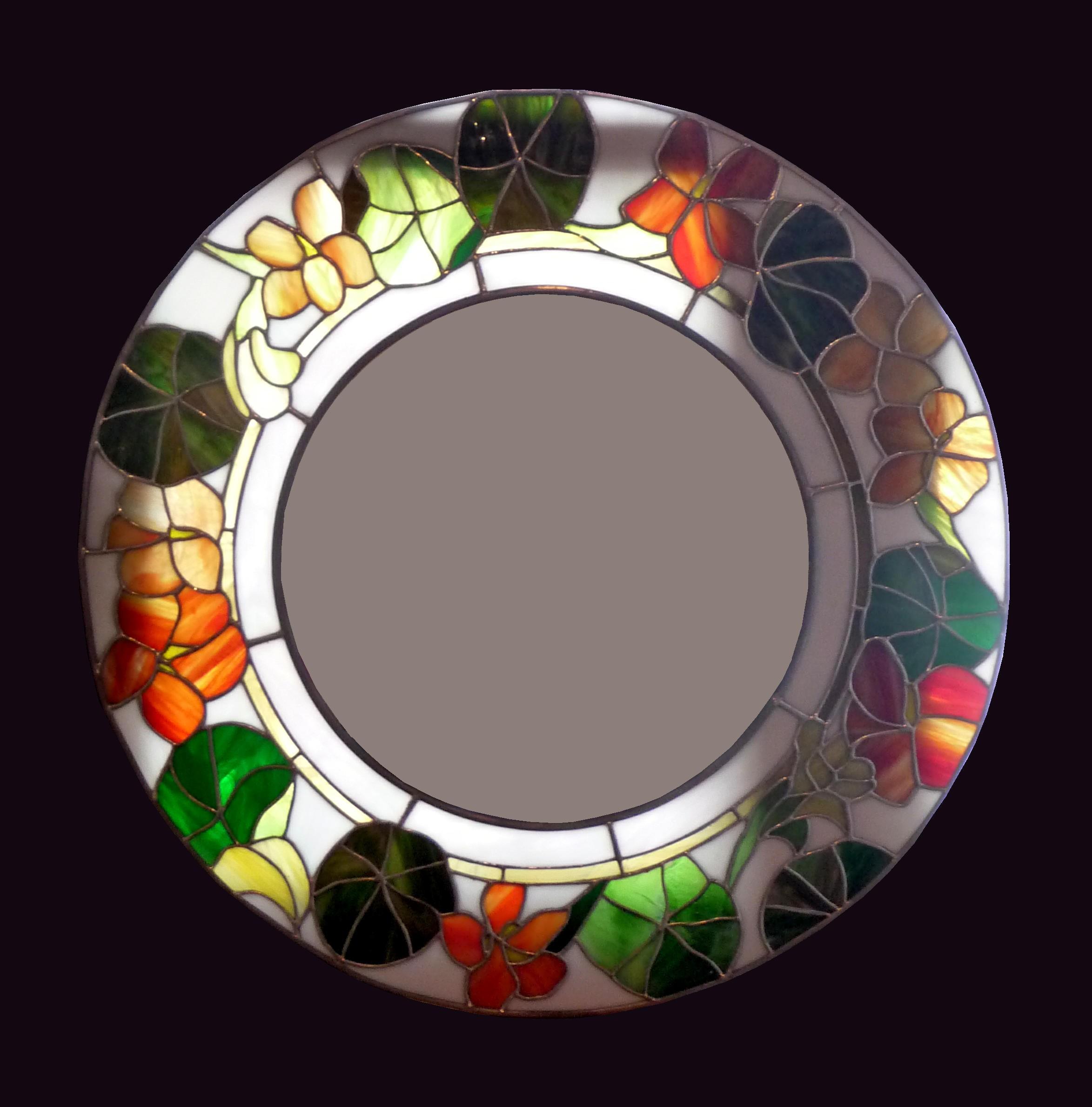 Vitrail Miroir Modele laetitia metzinger bastien - mosaique vitrail décoration | galerie déco
